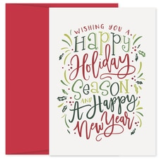 Wishing You Happy Holiday Collection Boxed Holiday Card
