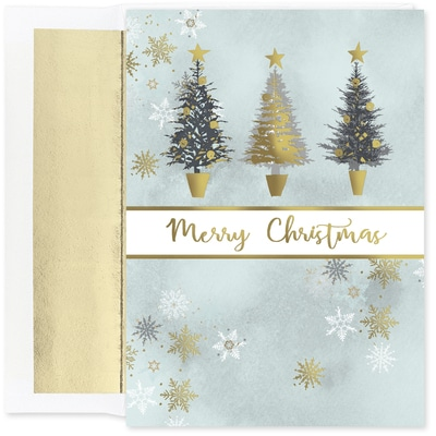 Christmas Tree Trio Holiday Collection Boxed Holiday Card