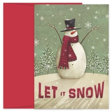 Let it Snowman Hollyville Boxed Holiday Card