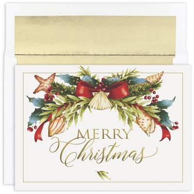 Seaside Swag Warmest Wishes Boxed Holiday Card