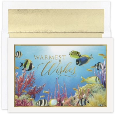 Warmest Wishes Fishes Warmest Wishes Boxed Holiday Card