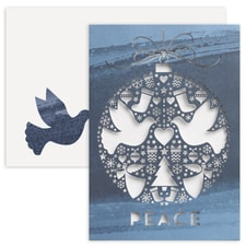 Dove Ornament Laser Cut Holiday Collection Boxed Holiday Card