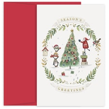 Santa's Helpers Holiday Collection Petites Boxed Holiday Card