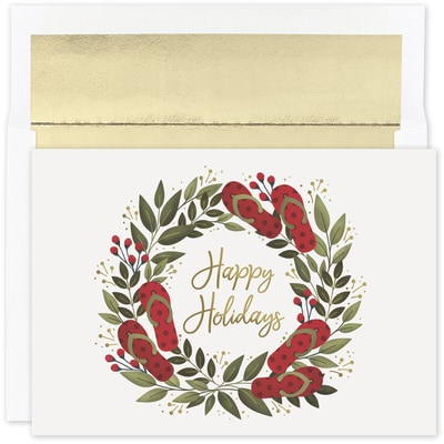Flip Flop Holiday Warmest Wishes Boxed Holiday Card