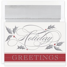 Silver Swirl Holiday Holiday Collection Boxed Holiday Card
