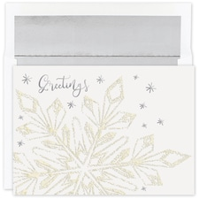 Glittering Snowflake Holiday Collection Boxed Holiday Card