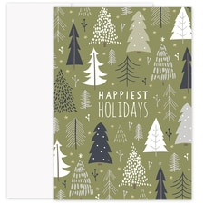 Many Trees Laughter & Joy Boxed Holiday Card
