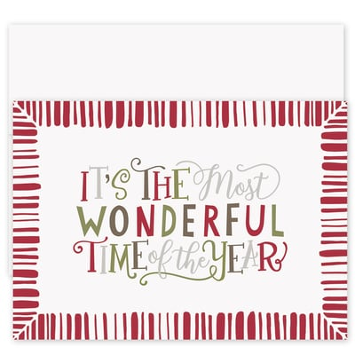 Most Wonderful Laughter & Joy Boxed Holiday Card