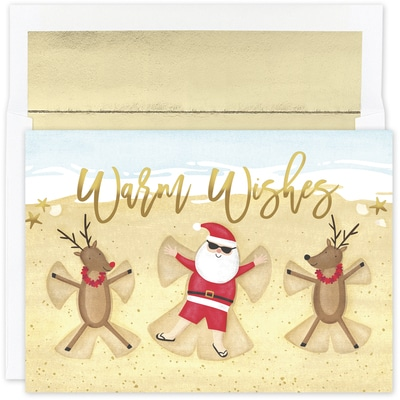 Beach Angels Warmest Wishes Boxed Holiday Card