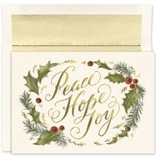 Peace Hope Joy Holiday Collection Boxed Holiday Card