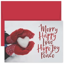 Merry Happy Love Holiday Collection Boxed Holiday Card