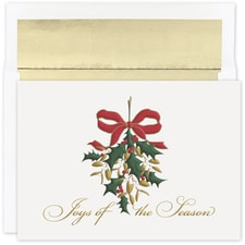 Mistletoe Joy Holiday Collection Boxed Holiday Card
