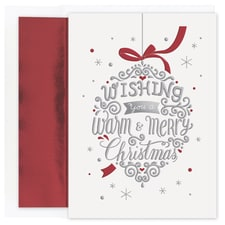 Sentiments Ornament Holiday Collection Boxed Holiday Card
