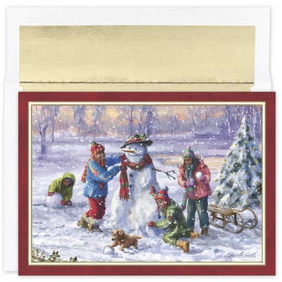 Building Frosty Holiday Collection Boxed Holiday Card