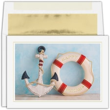 Anchored for the Holidays Warmest Wishes Boxed Holiday Card