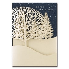 Winter Treeline Intricuts Boxed Holiday Card