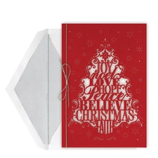 Holiday Words Intricuts Boxed Holiday Card
