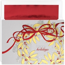 Holiday Wreath Century Boxed Holiday Card