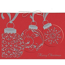 Ornament Trio Boxed Holiday Card