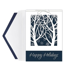 Trees & Snowflakes Intricuts Boxed Holiday Card
