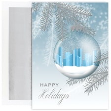 Skyline Ornament Century Boxed Holiday Card