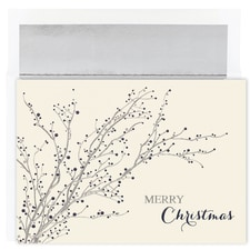 Blue Berry Branches Century Boxed Holiday Card