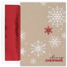 Christmas Snowflakes Century Boxed Holiday Card