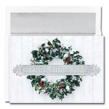 Snowy Wreath Century Boxed Holiday Card
