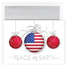 Patriotic Ornaments Century Boxed Holiday Card