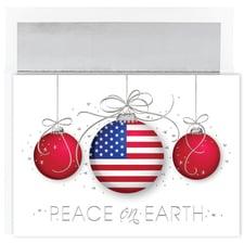 Patriotic Ornaments Century Boxed Holiday Card