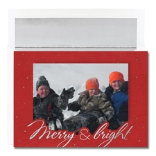 Merry & Bright Photo Card Century Boxed Holiday Card