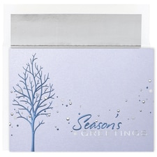Blue Treeline Century Boxed Holiday Card