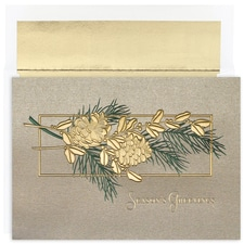 Pinecone Branch Century Boxed Holiday Card
