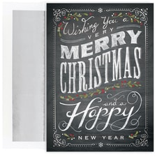 Chalkboard Greetings Century Boxed Holiday Card