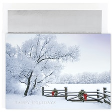 Winter Fence Century Boxed Holiday Card