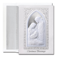 Christmas Blessings Window Century Boxed Holiday Card