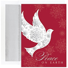 Snowflake Peace Dove Century Boxed Holiday Card