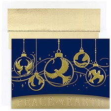 Dove Ornaments Century Boxed Holiday Card