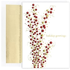Holiday Berry Branch Century Boxed Holiday Card