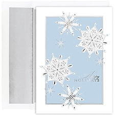 Silver Snowflakes Century Boxed Holiday Card