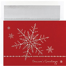Delicate Snowflakes Century Boxed Holiday Card