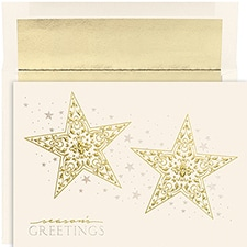 Two Shining Stars Century Boxed Holiday Card