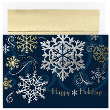 Silver & Gold Flakes Century Boxed Holiday Card