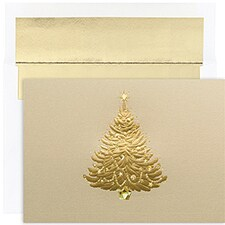 Shimmering Tree Century Boxed Holiday Card
