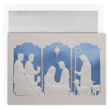 Manger Tryptich Century Boxed Holiday Card