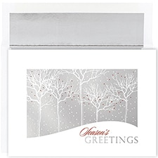 Silver Treeline Century Boxed Holiday Card