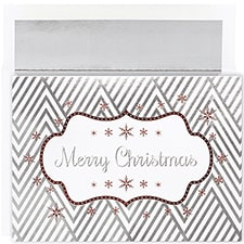 Christmas Chevron Century Boxed Holiday Card
