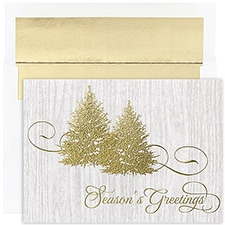 Golden Trees Century Boxed Holiday Card