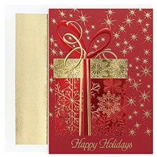 Glittering Gift Century Boxed Holiday Card