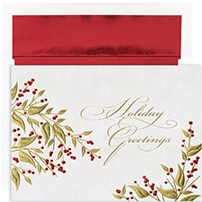 Leaves & Berries Century Boxed Holiday Card